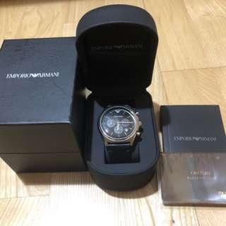 真品三眼Armani手錶9.5成新展示品出清