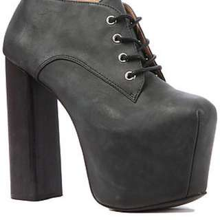 Jeffrey Campbell Clayton in Black Washed