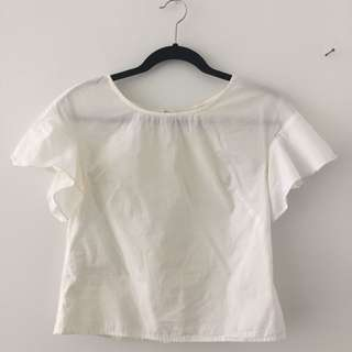 Anthrologie White Blouse