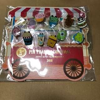 香港 迪士尼 徽章 Disney Pin隠藏米奇'嘉年華會美食車'徽章系列  Fullset