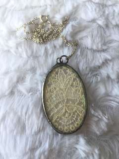 Vintage Lace with Glass Pendant