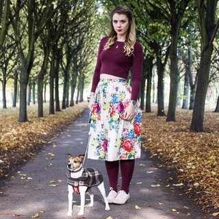 🆕Cath Kidston Floral Midi Skirt 半截裙