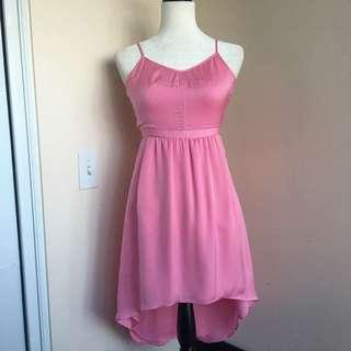 Aritzia Talula 4 Pink short front long back Dress
