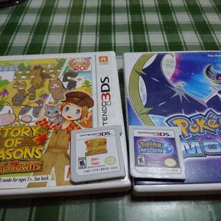 3ds games POKEMON MOON and STORY OF SEASONS