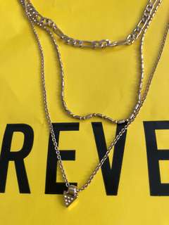 Brand New Auth Forever 21 Layered Pendant Necklace