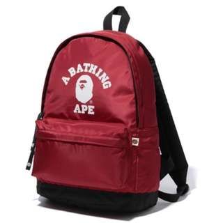 BAPE College Daypack Red