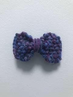Handmade Multi Color in Mixture of Purple Shades Bow 40mm Ailligator Hair Clip