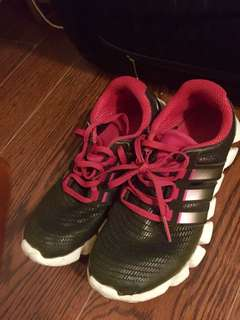 Adidas, pink and black, size 6