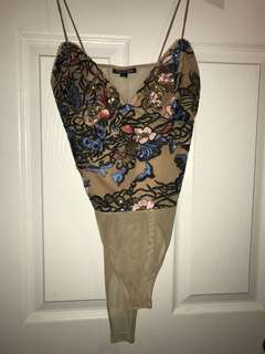 Top shop sparkle bodysuit