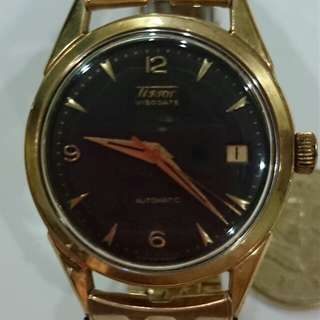 watch TISSOT Visodate 18 ct gold RARE