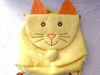 Charity Sale! Yellow Kitty Cat Kids Backpack
