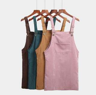 Mini pinafore with strappy back(Available in Pink and Black)
