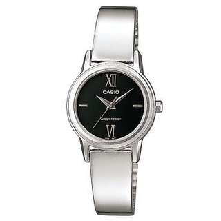 Casio women bangle analog watch black face