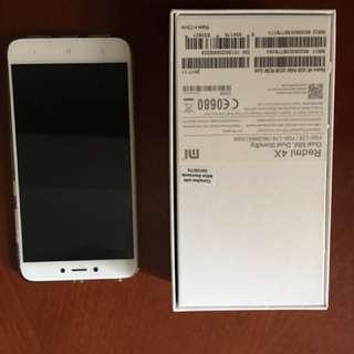 99% new 超新淨小米紅米4x 手機,香檳金,小米行貨,有單有盒全套齊