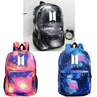 BTS galaxy school bag