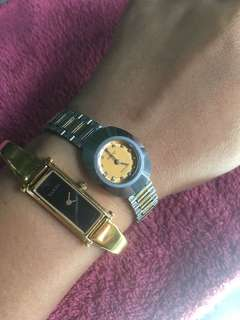 Authentic watch rado and gucci