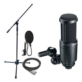 Audio Technica AT2020 condenser mic (with FREE mic stand, XLR cable and filter)