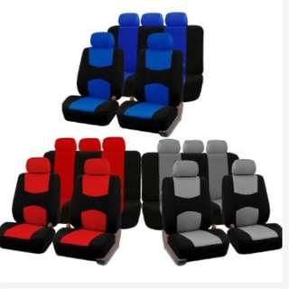 Universal Car Seat Cover 9pcs Set Full Seat Covers Front Rear
