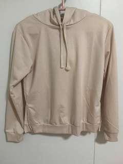 Nude cropped hoodie