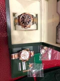 Rolex 116523 停產 黑m頭888 89500 白v頭極新 86500兩隻跟錶行單