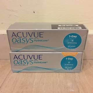 Acuvue Oasys with HydraLuxe 1-Day Contact Lenses