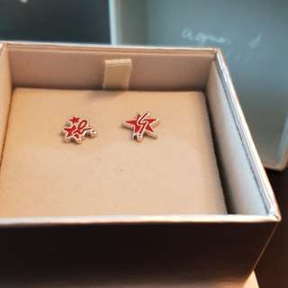 Brand New Agnes B Earrings (Red)
