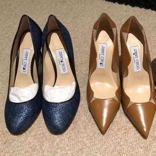 Jimmy Choo size 36 beige 85 cm / blue / brown heels pumps shoes