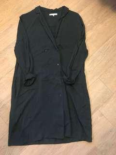 Oak & Fort Shirt Dress - Grey, S