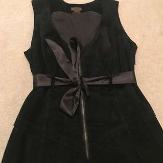 Black suede dress Danier