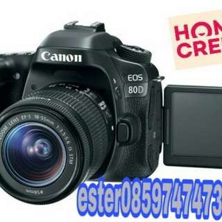 Canon Eos 80D Lengkap Promo Credit Cepat 3Menit