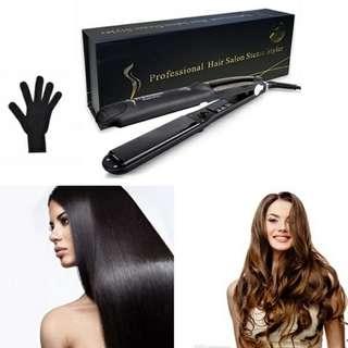 Best Hits! Prof Hair Salon Steam Argan Oil Infusion Hair Straightener