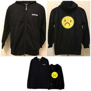 [READYSTOCK]HIGHLIGHT Smiley Zipped Hoodies
