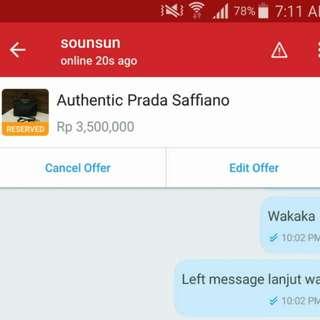 Hati2 seller ini diajak cod alesan byk dan php setelah di offer