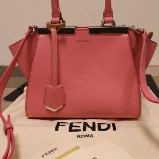 100% authentic Fendi 3 Jours Mini Leather Satchel Bag
