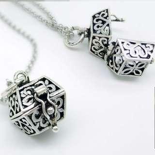 925 Silver secret box pendant necklace. / 925純銀秘密盒吊咀頸鏈