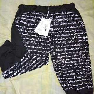 Jogger pants ( celana 3/4 ) size XL