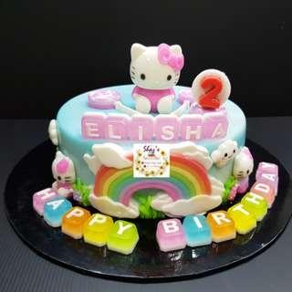Customised Hello Kitty Theme Jelly Agar Birthday Cake