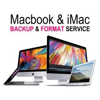 Format Backup iMac Macbook PC Notebook