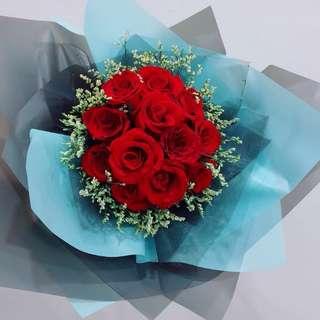 12pcs Rose Bouquet w delivery