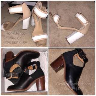 Tony Bianco heels & genuine leather boots