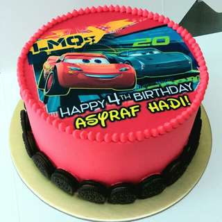 Cars Mcqueen Customise Photo Cake