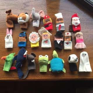 20 finger puppets from Ikea