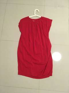 Spring maternity red dress