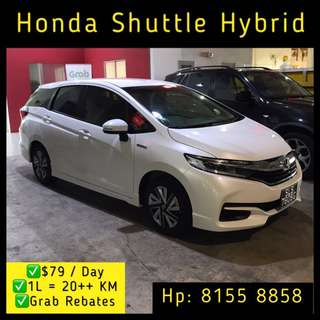 Honda Shuttle Hybrid - Grab Car Rentals