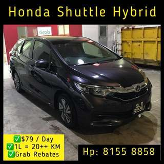 Honda Shuttle Hybrid - Grab Car Rental
