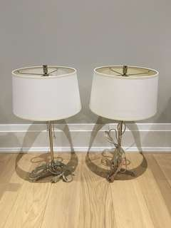 Two Metal Lamps