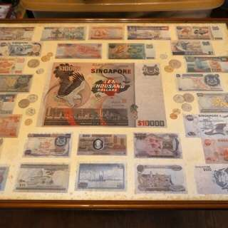 Poster of Singapore Currencies in Frame (2)