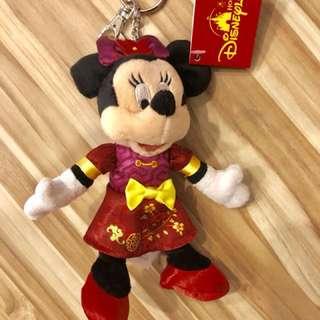 🎠香港迪士尼米妮新年吊飾