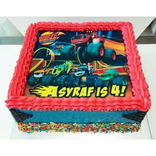 Blaze and The Monster Machines Customise Photo Cake