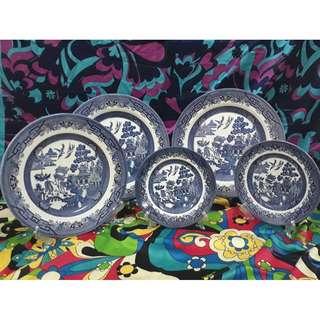 Vintage plates 1 set